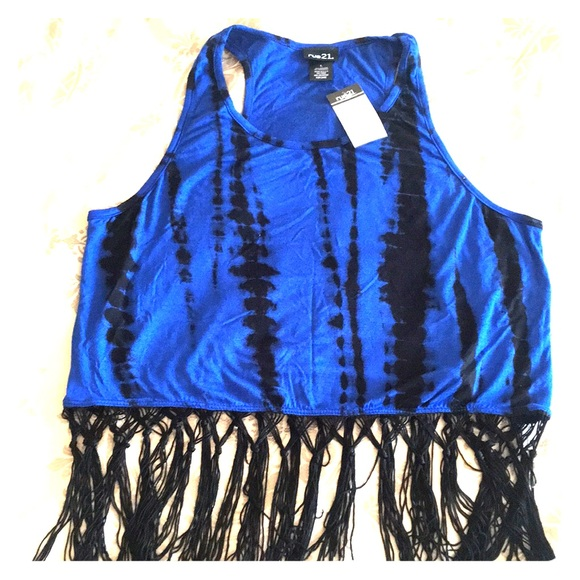 Rue21 Tops - Fringed Crop Top